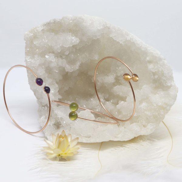 bracelet rigide or rose