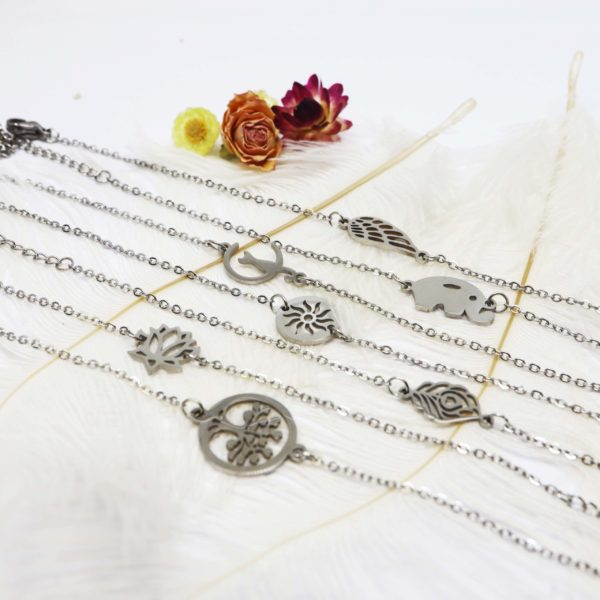 bracelet argent breloque