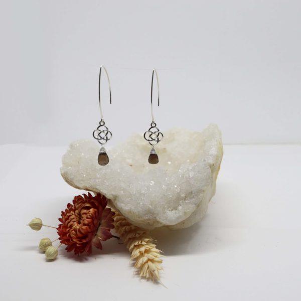 Boucles d'oreilles en argent nœud