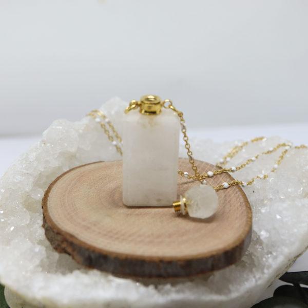 collier fiole de parfum
