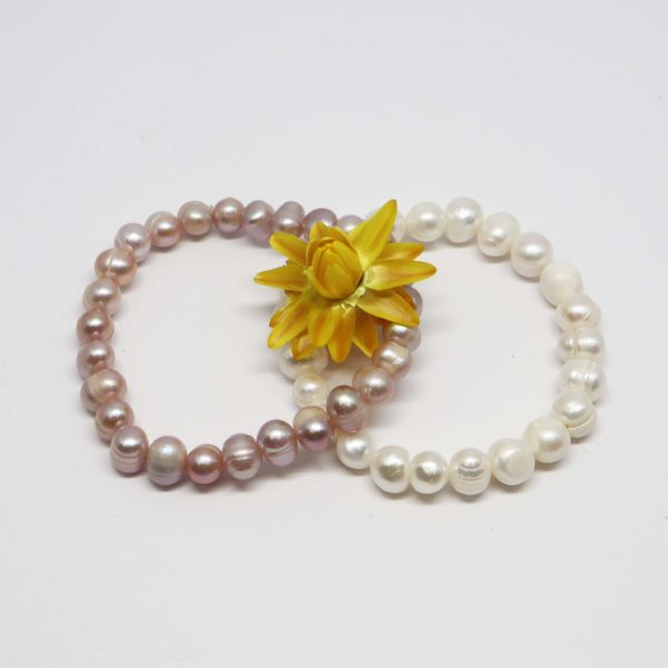 bracelet élastique perles de culture