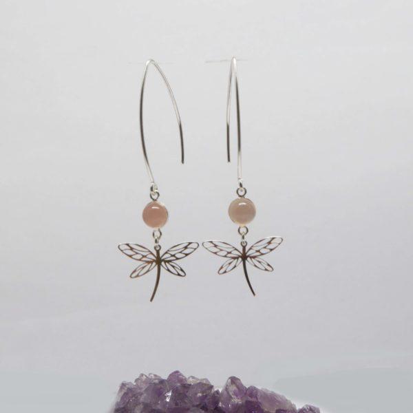 boucles d'oreilles libellule argent