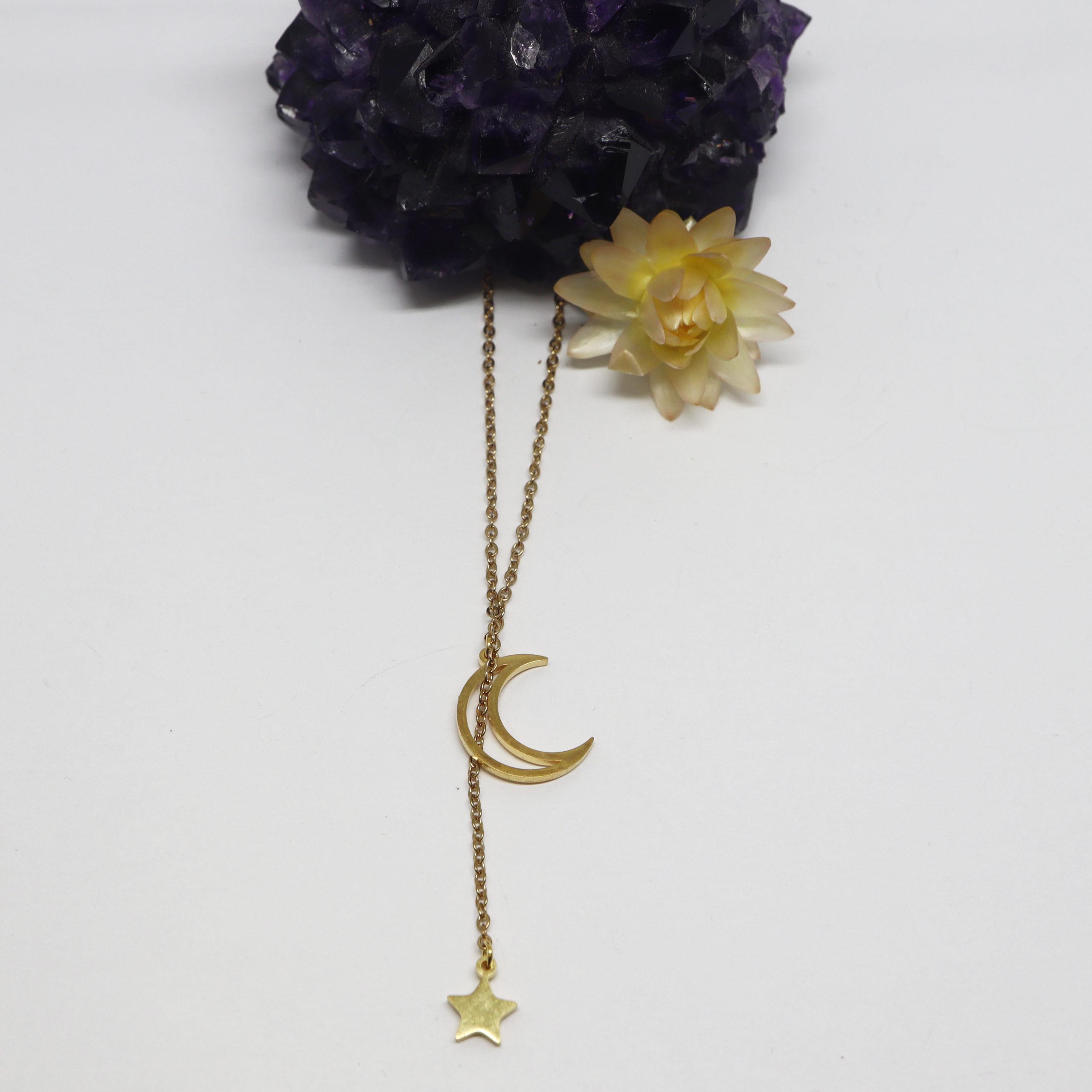 collier lune et étoile
