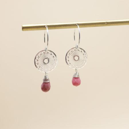 Boucle d'oreille rosace